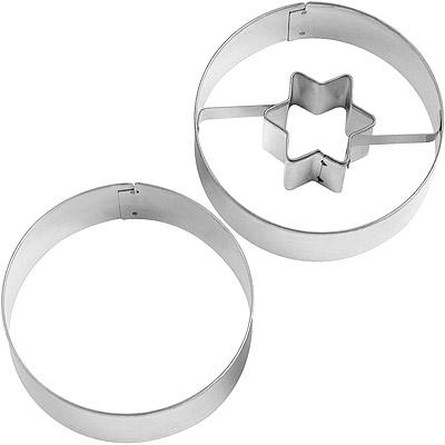 GP&me Dolce林茲眼睛餅乾模2件(星星)