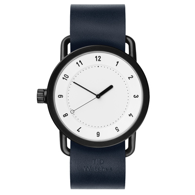 TID Watches No.1 TID-W200-NVW-黑白X藍錶帶/40mm