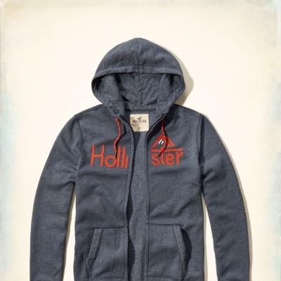 Hollister HCO 長袖 帽T 灰色