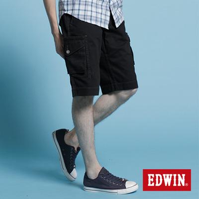EDWIN-純粹夏日-KHAKI貼袋馬褲-男款-黑色