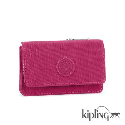 Kipling 短夾 乾燥玫瑰素面-小
