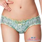 #【嬪婷】花漾女孩M-LL超低腰三角褲(花漾綠)
