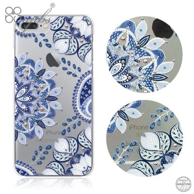 apbs iPhone8/7 Plus 5.5吋施華洛世奇彩鑽手機殼-青花瓷奢華版
