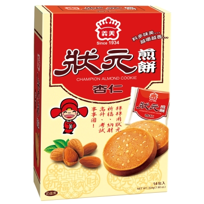 義美 狀元煎餅杏仁(224g)