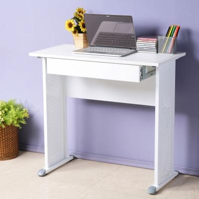 Homelike 皮特80x40工作桌(附抽屜)-仿馬鞍皮