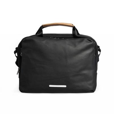 RAWROW-帆布系列-13吋三用簡約休閒包(手提/肩背/側背)-墨黑-RBF120BK