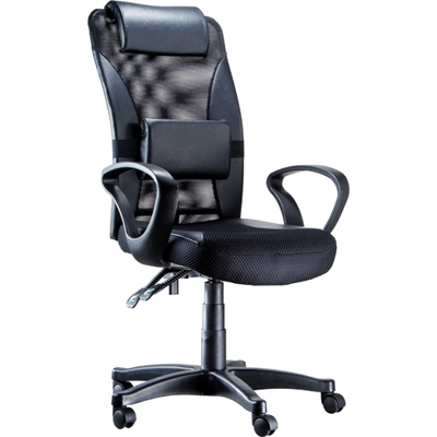 NICK 高級透氣網背高顆粒布坐墊主管椅