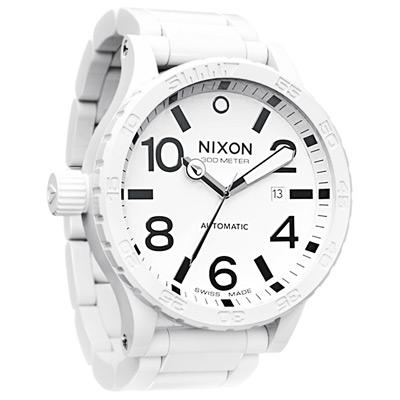 NIXON The ceramic  51 - 30  陶瓷機械腕錶-白/ 51 mm
