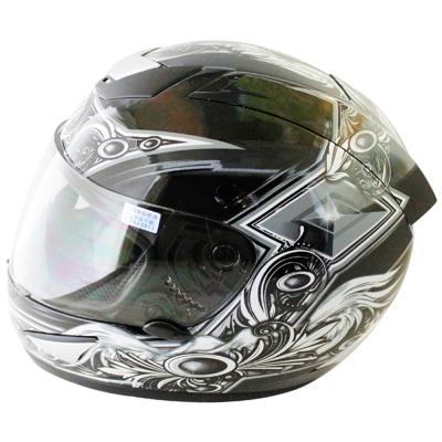 翅膀可掀式全罩安全帽TS41A-黑銀+新一代免洗安全帽內襯套6入