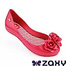 Zaxy 巴西 童花漾朵朵休閒娃娃鞋-桃紅色