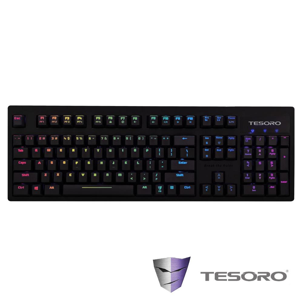 TESORO鐵修羅 Excalibur RGB神劍幻彩版機械式鍵盤-紅軸中文