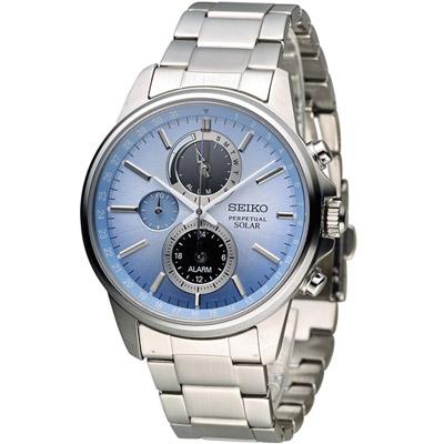 SEIKO-SPIRIT-萬年曆多功能計時腕錶-S