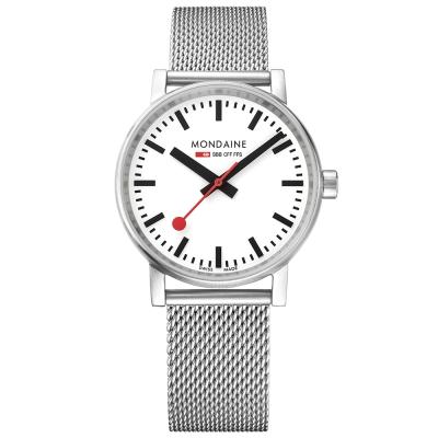 MONDAINE 瑞士國鐵evo2時光走廊腕錶-35mm/米蘭鋼鏈