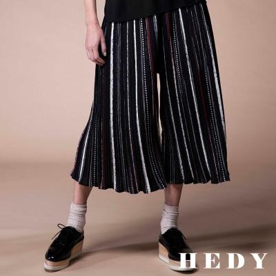 Hedy赫蒂 線條壓褶鬆緊寬褲(共兩色)