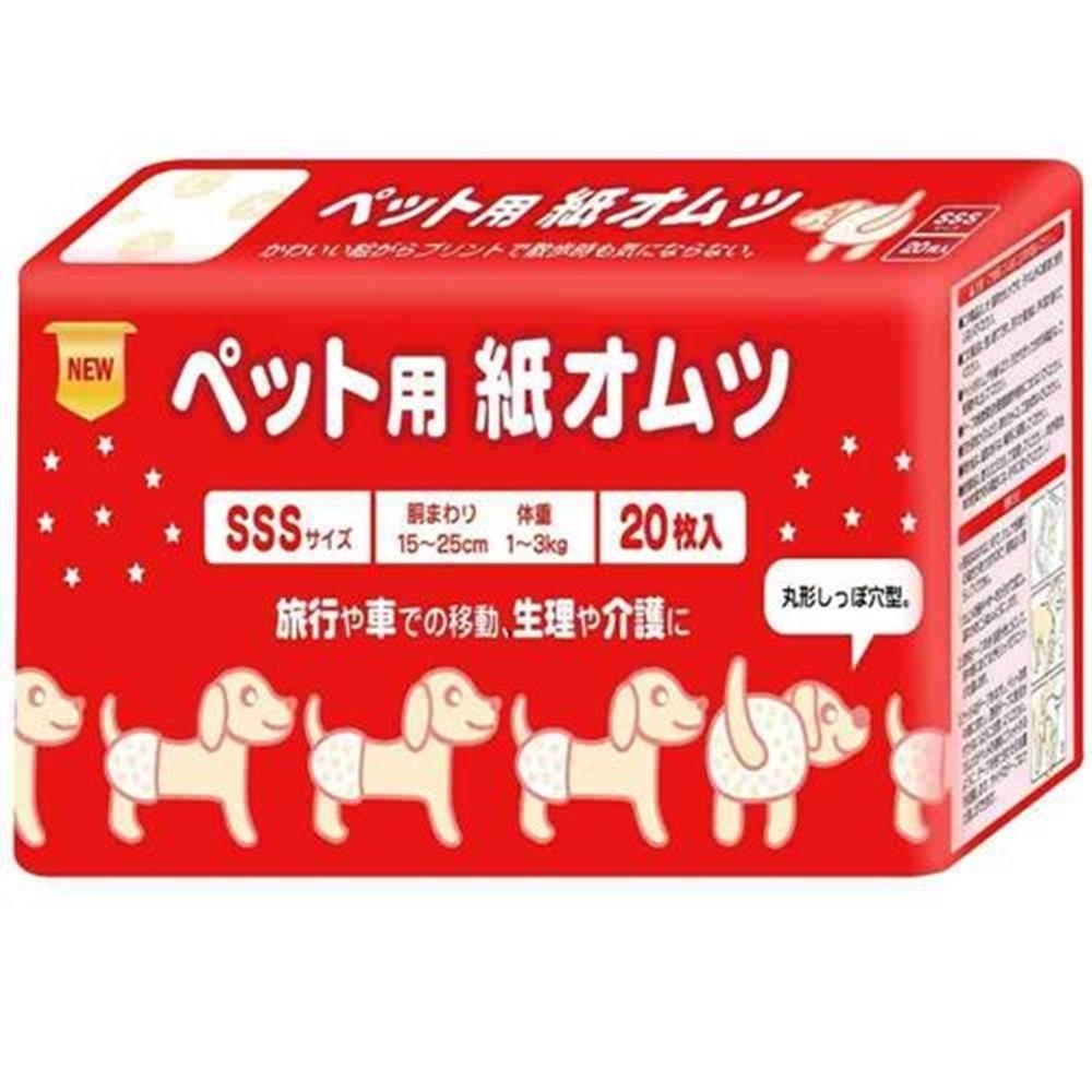 inuneru 寵物尿褲生理褲 SSS號 四包組