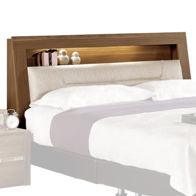 愛比家具 達爾維6尺雙人加大床頭箱(不含床墊、床底)