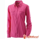 Wildland 荒野 W1201-09桃紅 女 拉鍊可調節抗UV襯衫