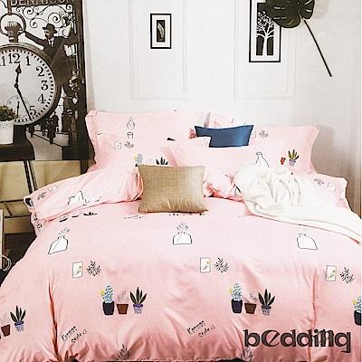 BEDDING-柔絲絨6尺雙人加大薄床包三件組-城市之光