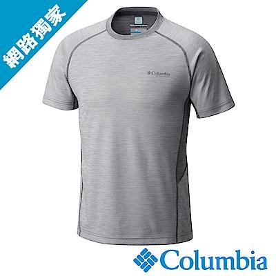 Columbia 哥倫比亞 男-鈦防曬50涼感快排短袖上衣深灰UAE01790DY