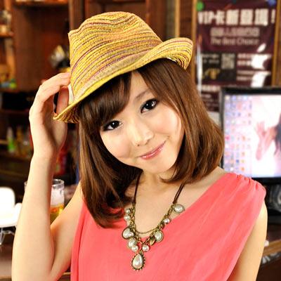 【Aimee Toff】造型木質絲彩個性遮陽帽