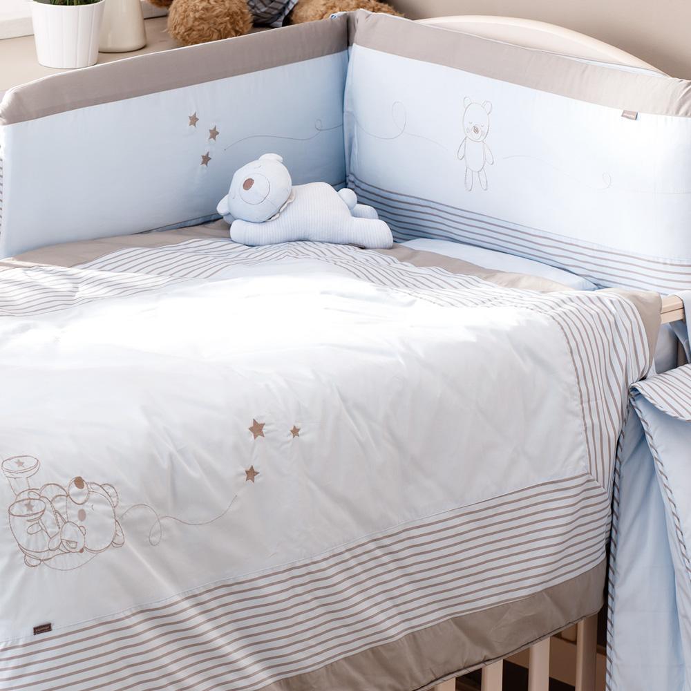 【奇哥】Absorba 布偶熊七件式寢具組(M-2色選擇)
