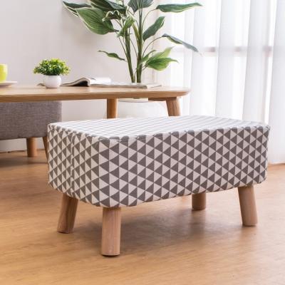 Bernice 幾何灰長方型沙發椅凳/腳椅/穿鞋椅