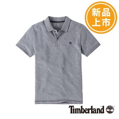 Timberland-男款淺灰色襯衫素面刺繡POL