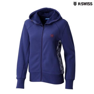 K-Swiss Fleece Jacket休閒連帽外套-女-紫