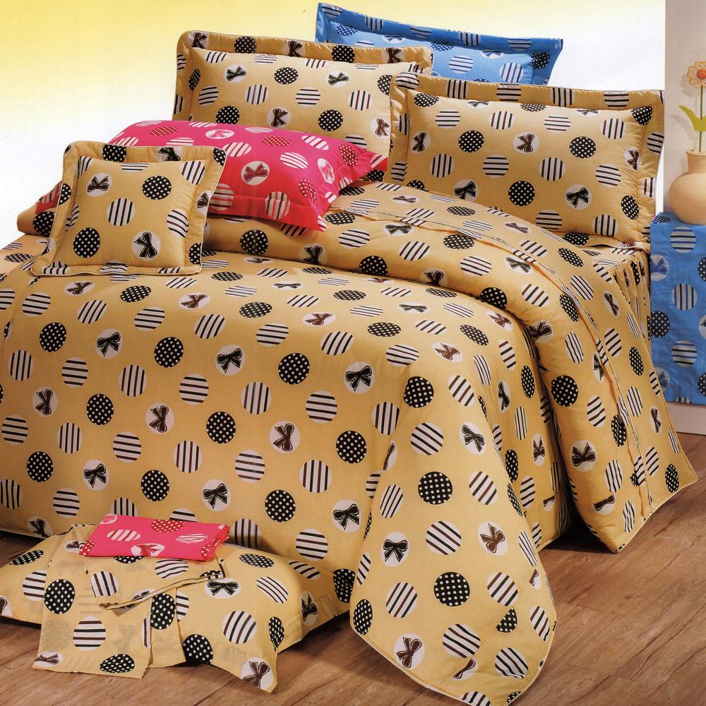 艾莉絲-貝倫 溫情之家 高級混紡棉 雙人鋪棉兩用被床包四件組