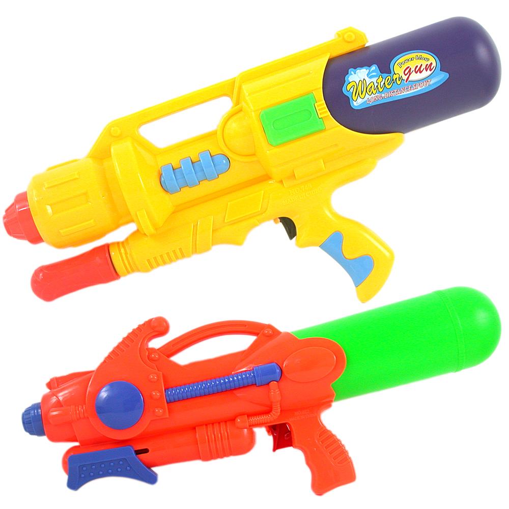 《夏日戲水超值組》加壓式中型強力水槍2入加送小水槍(隨機出貨)