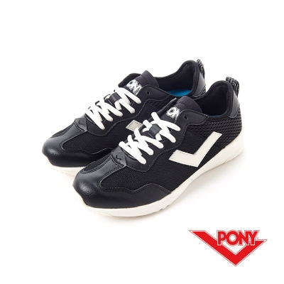 【PONY】SOHO+系列-輕甜休閒鞋-女性-黑