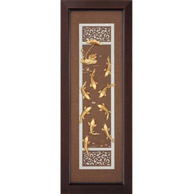 開運陶源 金箔畫 純金 *古典中國風系列*【九如呈祥】...38x102cm