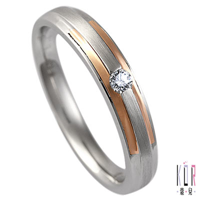 K'or蔻兒 專寵愛情0.05克拉鑽石戒指(女)