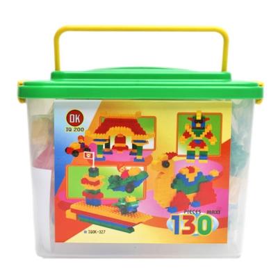 OK積木 我高積木大顆粒積木迷你提桶130片裝 OK327