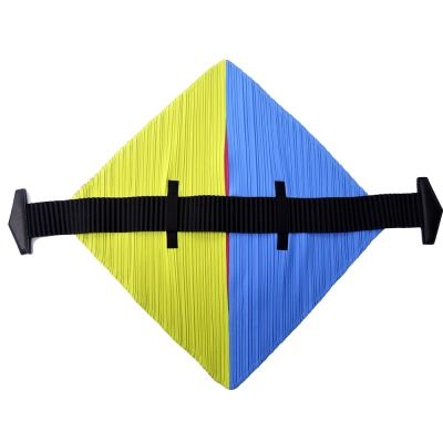ISSEY MIYAKE 三宅一生 PP系列 FLAT撞色菱形皺褶手提包(藍綠x桃)
