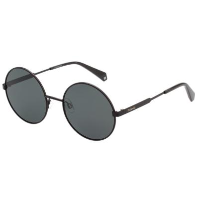 Polaroid 寶麗萊 復古圓框 偏光太陽眼鏡 (黑色)