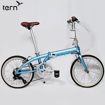 【Tern】Link C8 20吋8速鋁合金折疊單車-淺藍底白標