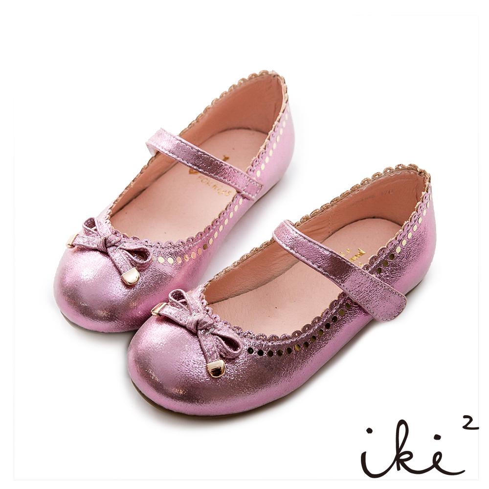iki2童鞋-法式浪漫甜美娃娃鞋-甜甜粉