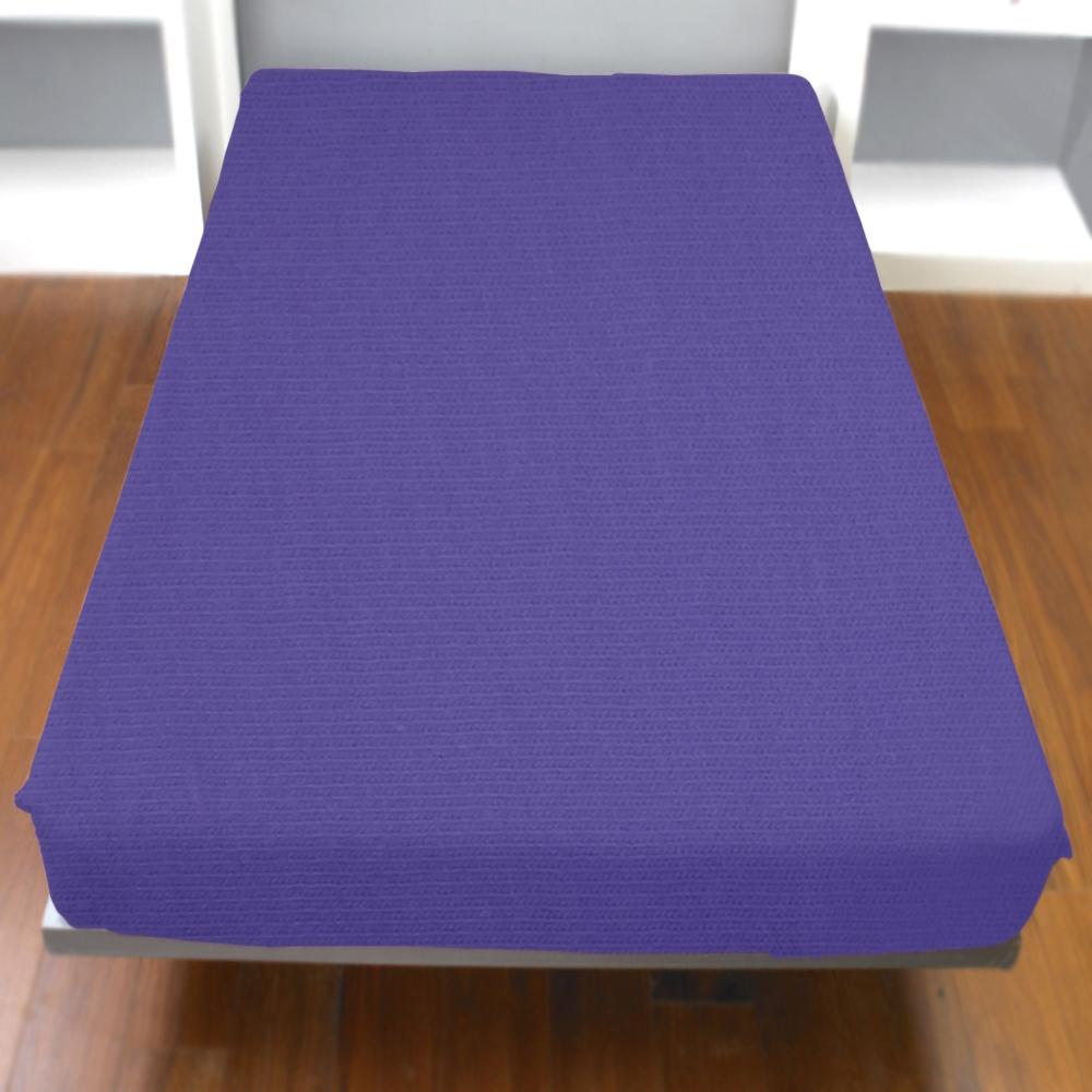 《YVONNE》單人純棉床包 (紫)