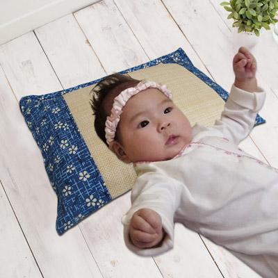凱蕾絲帝 台灣製造-純天然清涼透氣仿草綠豆枕-0~3歲嬰兒枕