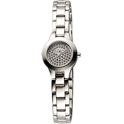 DKNY  性感曲線晶鑽女錶-21mm