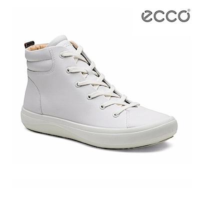 ECCO KINHIN 清新系列高筒休閒鞋-白