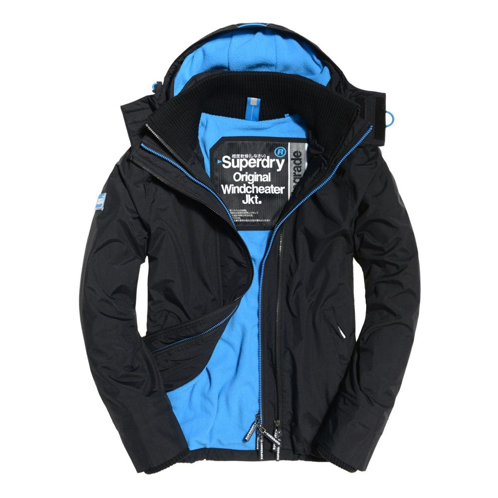 極度乾燥SUPERDRY LOGO風衣外套 黑色