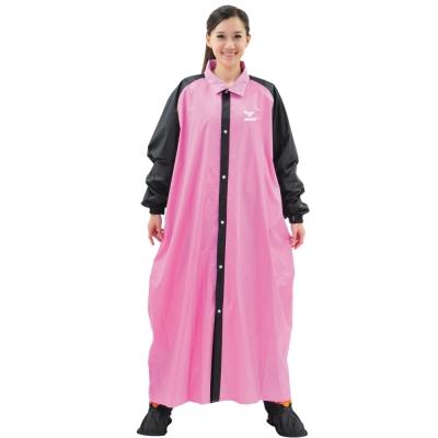 JUMP 將門 T9配色前開一件式風雨衣(2XL~4XL)桃粉黑