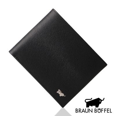 BRAUN BUFFEL - 提貝里烏斯系列12卡透明窗短夾 - 黑色