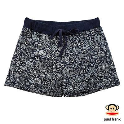 Paul Frank-滿版印花休閒短褲-深藍(女)