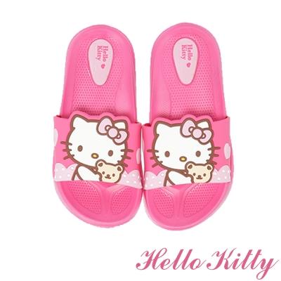 HelloKitty 輕量減壓室內外休閒拖鞋童鞋-桃