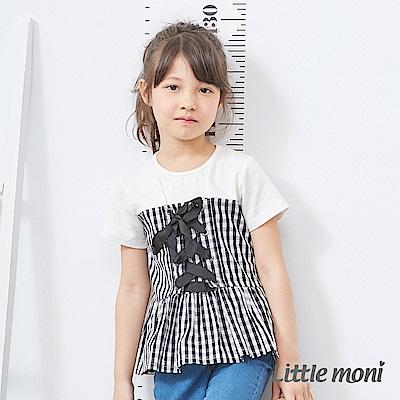 Little moni 馬甲式上衣 黑色