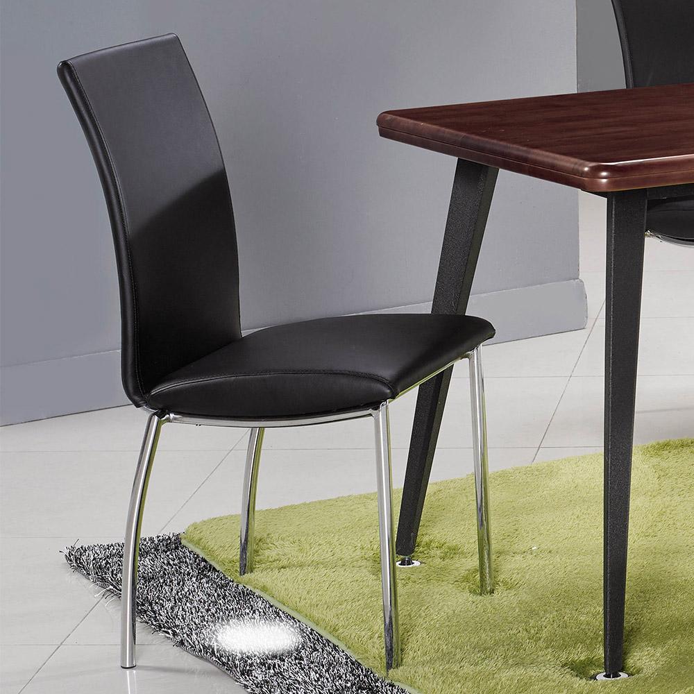 H&D 黑色皮面椅 (寬41X深43X高90cm)