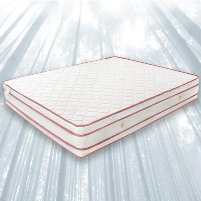 H&D 經濟型環保無毒系列-亞瑟竹炭記憶四線高獨立筒床墊-雙人加大6x6.2尺 28cm